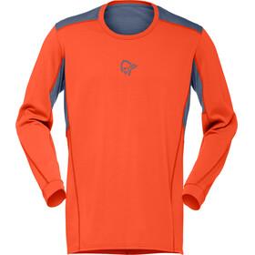 Norrøna Falketind Super Wool Maglietta a maniche lunghe Uomo arancione